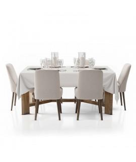 mantel blanco mesa grande