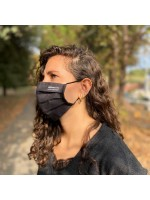 mascarilla negra de tela sostenible